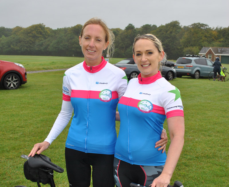 stretto sponsor Carly and Katherine for their third Bristol to Paris bike ride for Above and Beyond Charity.